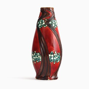 Antique Secessionist Vase by Leon Victor Solon for Minton, 1900s
