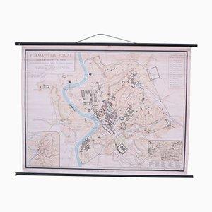 Mappa scolastica della vecchia Roma di Instituto Geografico de Agostini Nora, anni '50