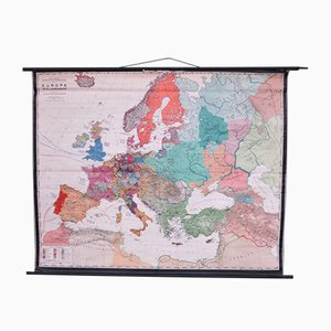 Mappa scolastica dell'Europa di Prof. Dr. Schmidt per Perthas Gotha, anni '50
