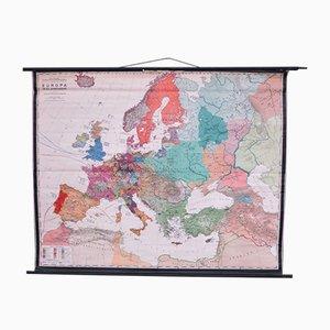 Schulwandkarte Europa von Prof. Dr. Schmidt für Perthas Gotha, 1950er