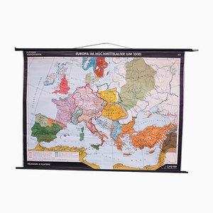Mapa escolar de Europa de Velhagen & Klasing, años 50