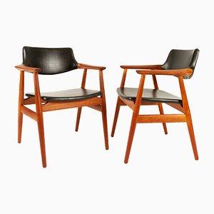 Dänische Teak GM11 Esszimmerstühle von Svend Åge Eriksen für Glostrup, 1960er, 8er Set