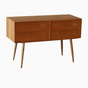 Vintage Teak Double Chest of Drawers on High Legs, 1960s