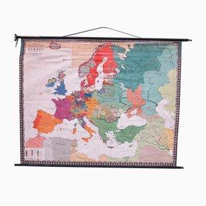 Mapa de Europa de la escuela de Prof. Dr. MG Schmidt para Perthas Gotha, años 50