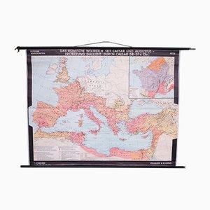 Vintage Schulwandkarte vom Römischen Weltreich
