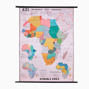 School Wall Map of Africa by Dr. E. Kremling for JRO, 1964