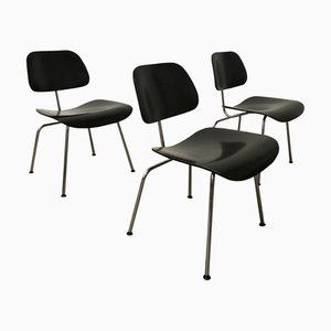 Painted Black DCM Chair by Charles & Ray Eames for Vitra, 1980s