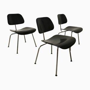 Sedia DCM nera di Charles & Ray Eames per Vitra, anni '80