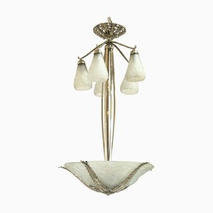 Art Deco French Ceiling Lamp from Muller Frères, 1930s