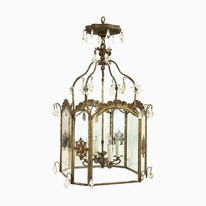 Antike französische Deckenlampe, 1800er