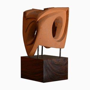 Escultura abstracta en terracota, Italia, 1968