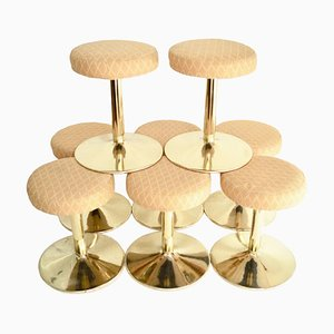 Brass Cruise Ship Stools, 1970s, Set of 2