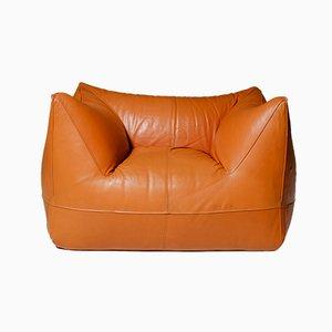 Cognac Leather Model Le Bambole Lounge Chair by Mario Bellini for B&B Italia / C&B Italia, 1970s