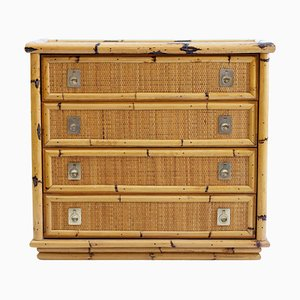 Bamboo and Wicker Dresser from Dal Vera, Italy, 1960s
