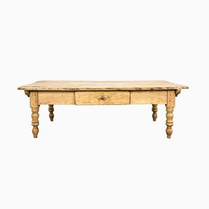 Antique French Pine Farmhouse Coffee Table