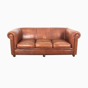 Vintage 3-Sitzer Ledersofa