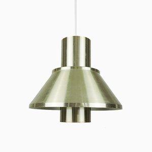 Vintage Brass Life Pendant Lamp by Jo Hammerborg for Fog & Mørup, 1970s