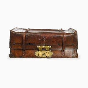 Französischer Koffer aus Leder, 1880er