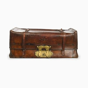 French Leather Suitcase, 1880s