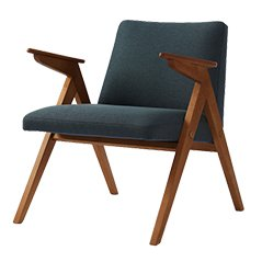 Vintage Grey-Blue Armchair