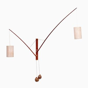Mid-Century Sconce with Coconut Counterweights by Rupprecht Skrip for Skrip, 1950s