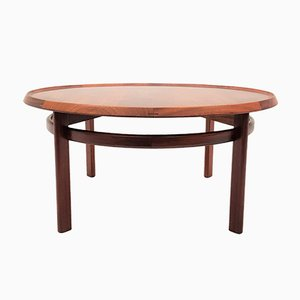 Rosewood Bellis Circular Coffee Table by Torbjørn Afdal for Bruksbo, 1960s