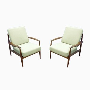 Teak Armchairs by Grete Jalk for France & Søn / France & Daverkosen, 1960s, Set of 2