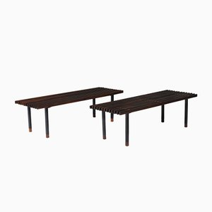 Italian Rosewood Benches by Campo e Graffi, 1950s, Set of 2