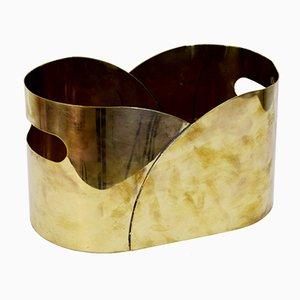 Italian Brass Basket from MAM Oggetti per Arredamento, 1970s