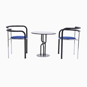 Postmodern Model Dark Horse Dining Chairs by Thygesen & Sørensen for Botium, 1980s, Set of 3