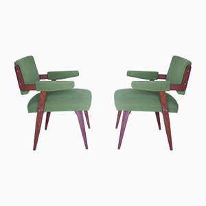 Mid-Century Teak Chairs, Set of 2