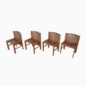 Vintage Dining Chairs by Titina Ammannati & Giampiero Vitelli for Pozzi and Verga, Set of 4