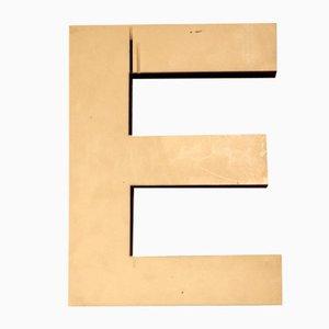 White Plastic Letter E Sign, 1970s