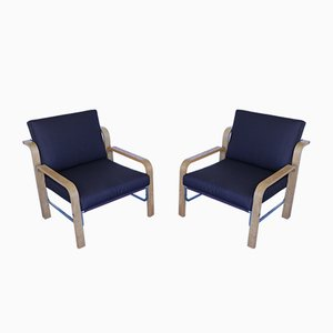 Vintage Ash Lounge Chairs, Set of 2