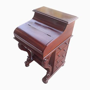 English Mahogany Davenport Desk, 1980s