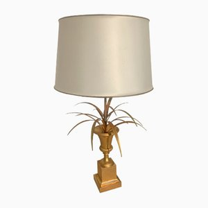 Bronze Palm Table Lamp from Maison Charles, 1970s