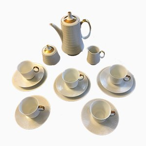Porcelain Tea Set for 3 People from Hutschenreuther, 1930s, Set of 18
