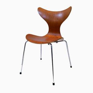 Sedie da pranzo modello 3208 Seagull di Arne Jacobsen per Fritz Hansen, Danimarca, 1973, set di 8