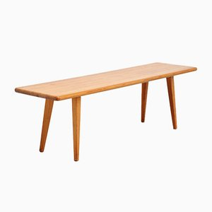 Swedish Solid Pinewood Bench by Carl Malmsten for Svensk Fur, 1940s