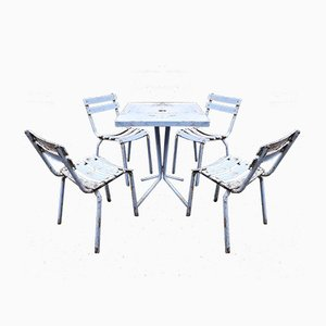 Garden Furniture Set from Tolix, 1950s, Set of 5