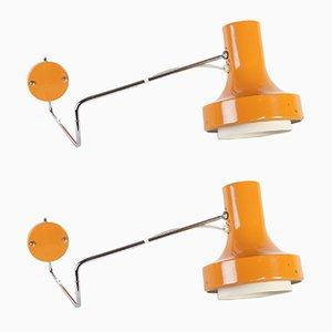 Mid-Century Modell 83106 Wandlampen von Josef Hurka für Napako, 1970er, 2er Set
