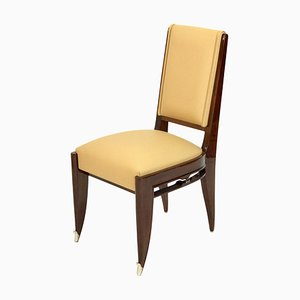 Art Deco Dining Chairs by Jean Pascaud, 1930s, Set of 3
