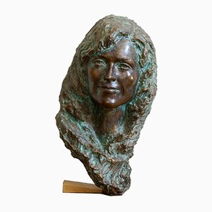 Bronze Female Bust, 1970s