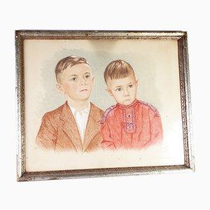 Soviet Boys Painting by Carl Sertgen, 1948