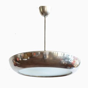 Czechoslovakian Model 4120 UFO Pendant Lamp by Josef Hurka for Napako, 1940s