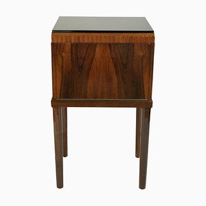 Art Deco French Rosewood Folding Side Table, 1930s