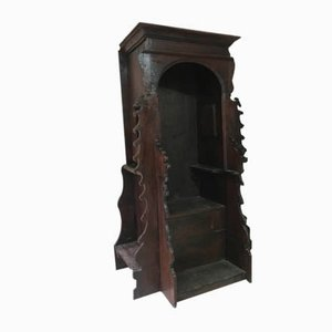 19th Century Italian Carved Walnut Catholic Church Confessional