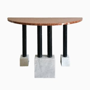 Italian Marble Console Table by Ettore Sottsass for Ultima Edizione, 1980s
