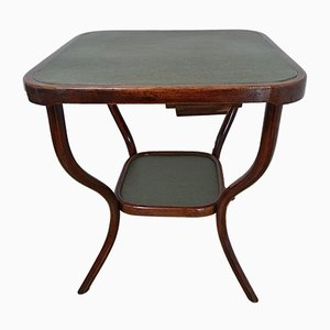 Antique Bentwood Game Table by Michael Thonet for Gebrüder Thonet Vienna GmbH, 1910s