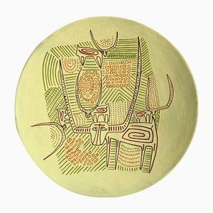 Italian Ceramic Plate by Paolo Loddo for Loddo Ceramiche, 1960s